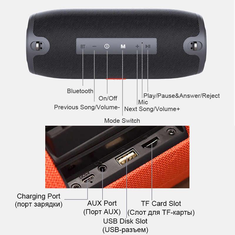 Głośnik bluetooth kolumna bezprzewodowy przenośny głośnik 20W bas radiowy subwoofer radio fm boombox aux usb pc sound bar TG215