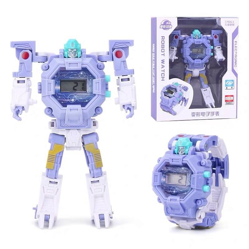 Kids Toy Robot Watch Transformation Wristwatch Toy Cartoon Transformation Electronic Watch Children Sports
