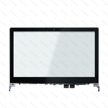 14''Touch Screen Glass Digitizer with Bezel For Lenovo Flex 2 14 20404 20432 Flex 2 14D 20376 15 6 for lenovo flex 2 15 2 15 2 15d laptop touch screen digitizer glass lens replacement parts with frame