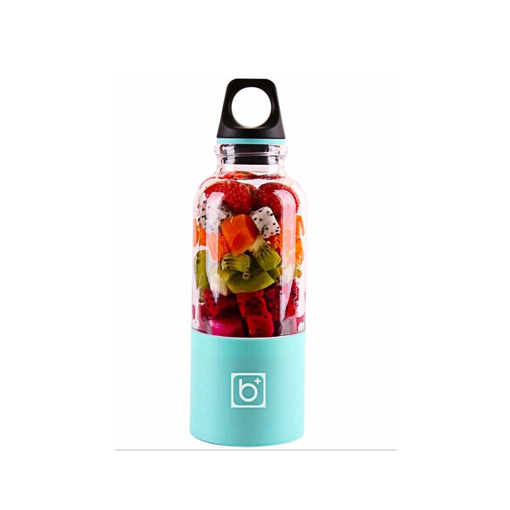 500 ミリリットル電気ジューサーカップミニポータブル USB 充電式ジューサーブレンダーメーカーシェーカーイーザフルーツオレンジジュース抽出