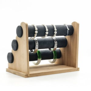 Image 4 - 3layer Bamboo Watch Bracelet Storage Stand Bangle Jewelry Organizer Storage Holder Bracelet Display Stand Rack Jewelry Display