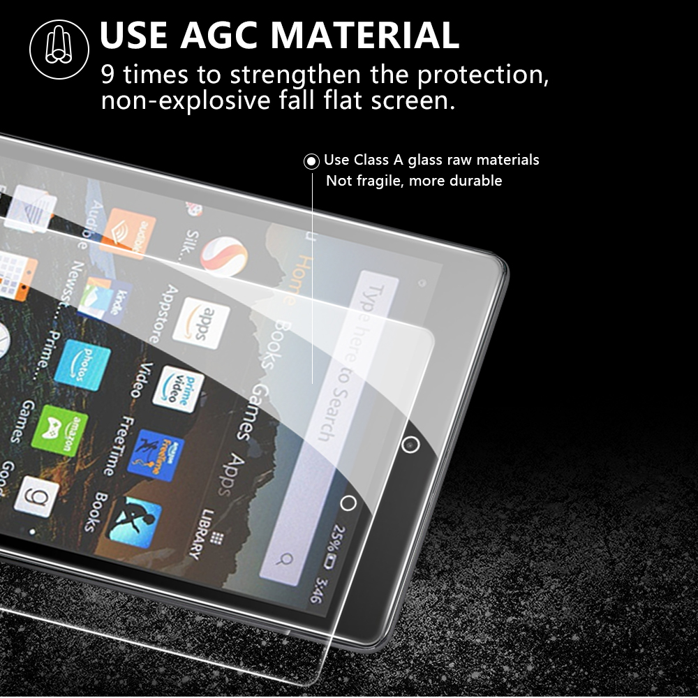 """HD 8/""""// HD 10/"""" Tablet Tempered Glass Screen Protector For Amazon Kindle fire 7/"""""""