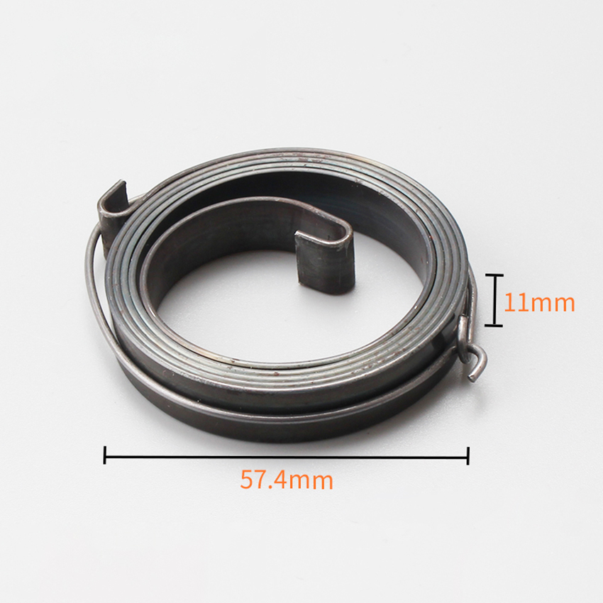 Starter Spring Metal Recoil Pull Start Starter Spring Assembly Compatible For 52 / 58 Chain Saw Rewind Starter Replacement