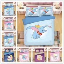 Disney Dumbo Bedding Sets Queen King Size Adult Children Christmas Cartoon bed set Duvet Cover Quilt Pillowcase