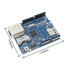 10 unids/lote Shield UNO Ethernet Shield W5100 R3 UNO Mega 2560 de 1280 de 328 de la UNR R3 <sólo W5100 Placa de desarrollo