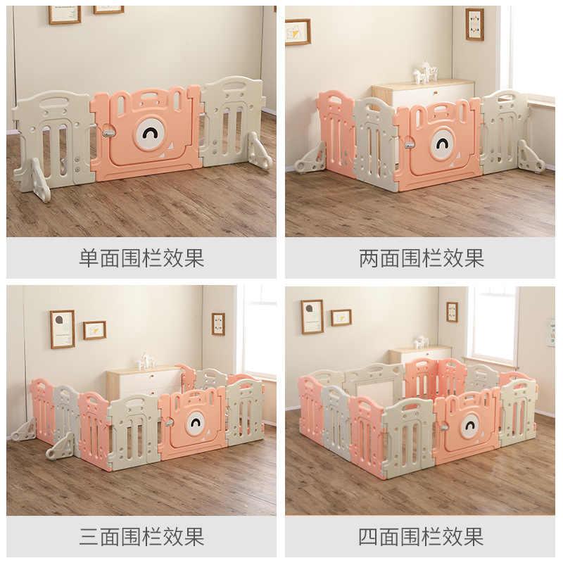 Permainan Anak-anak Kolam Bayi Aman Pagar Bayi Rumah Tangga Kisi Pelindung Pagar Tikar Plastik Langkah Sofa Zhejiang
