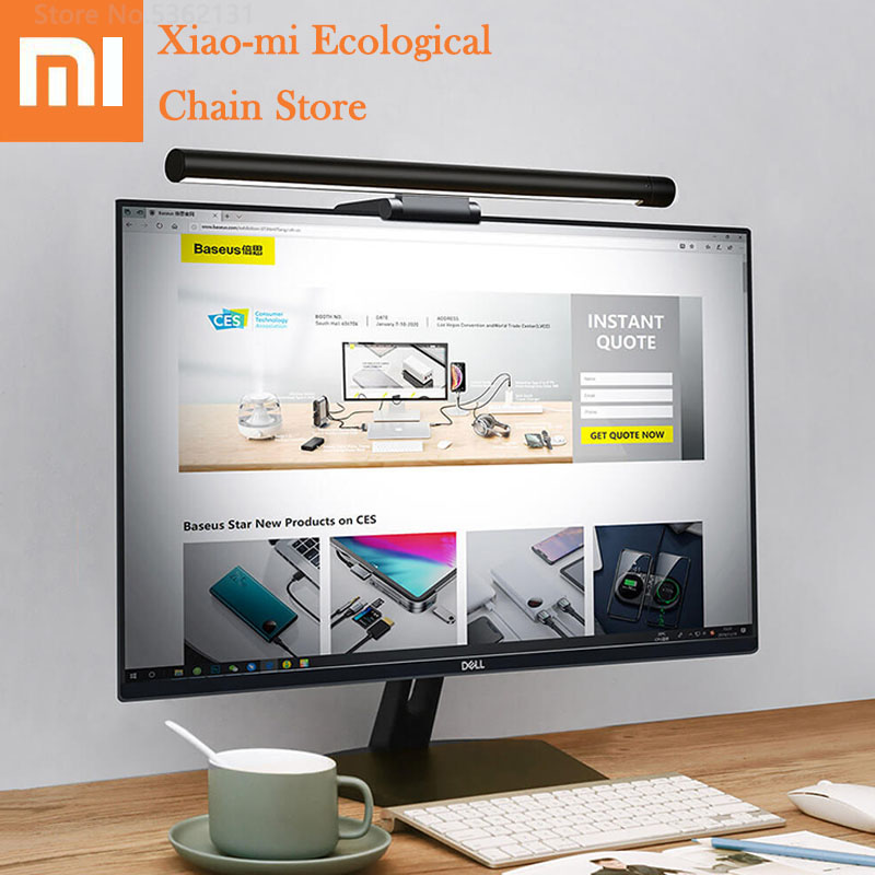 Xiaomi Led Screen Hanging Light Computer Desk Lamp Stepless Dimming Eye Protection Lamp Anti Blue Light Rechargeable For Home