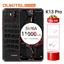 "OUKITEL K13 Pro Android 9,0 MT6762 мобильный телефон 6,4"" 19,5: 9 экран 4G ram 64G rom 5 V/6A 11000mAh OTA отпечаток пальца NFC Смартфон"