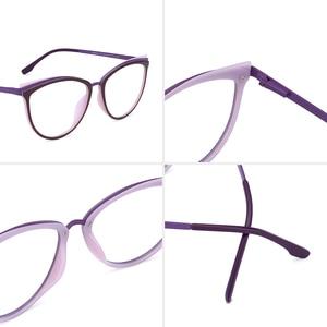 Image 4 - TR90 Womens Glasses Frame Transparent Spectacle Frame Myopia Optical Female Eyeglasses Frame Glasses Without Degree #C18825