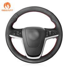 MEWANT Black Artificial Leather Steering Wheel Cover for Opel Mokka Insignia Astra (J) Meriva (B)  Ampera Cascada Zafira Tourer
