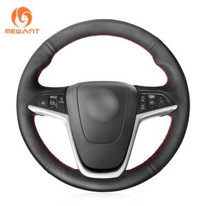 Image 1 - MEWANT Black Artificial Leather Steering Wheel Cover for Opel Mokka Insignia Astra (J) Meriva (B)  Ampera Cascada Zafira Tourer