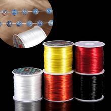 393 дюйма/рулон, прочный эластичный шнур для бисероплетения, 1 мм, для браслетов, растягивающаяся нить, нитка для ожерелья, для изготовления юв...