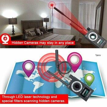 Anti Spy Wireless RF Signal Detector Camera GSM Audio Error Finder GPS Signal Lens RF Locator Tracker Detection 1MHZ-6.5GHZ K18 6