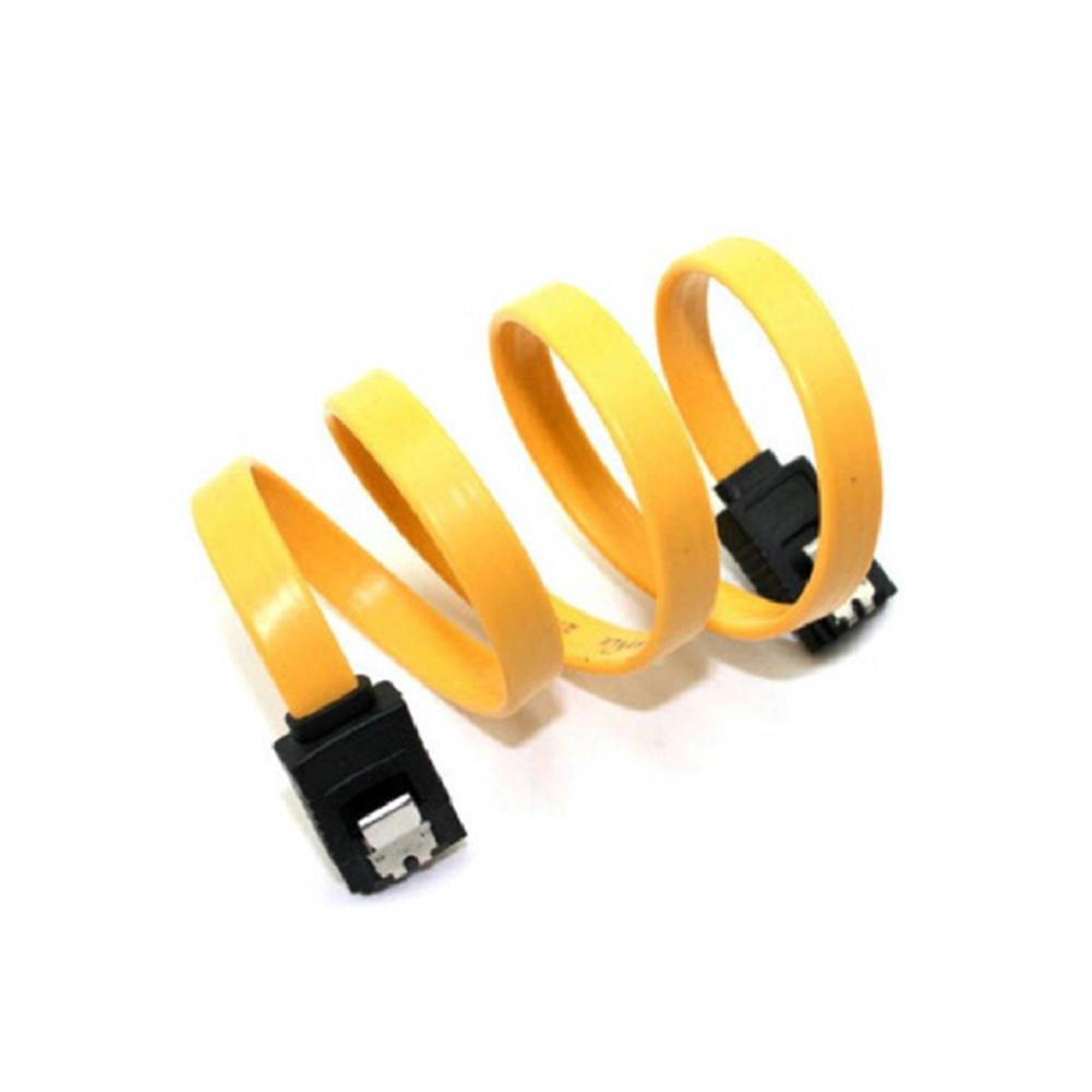 40CM Lingable SATA 2.0 II 7pin Data Cables <font><b>3Gb</b></font>/s SSD Cable <font><b>HDD</b></font> Hard Disk Drive Cord line High Speed Yellow image
