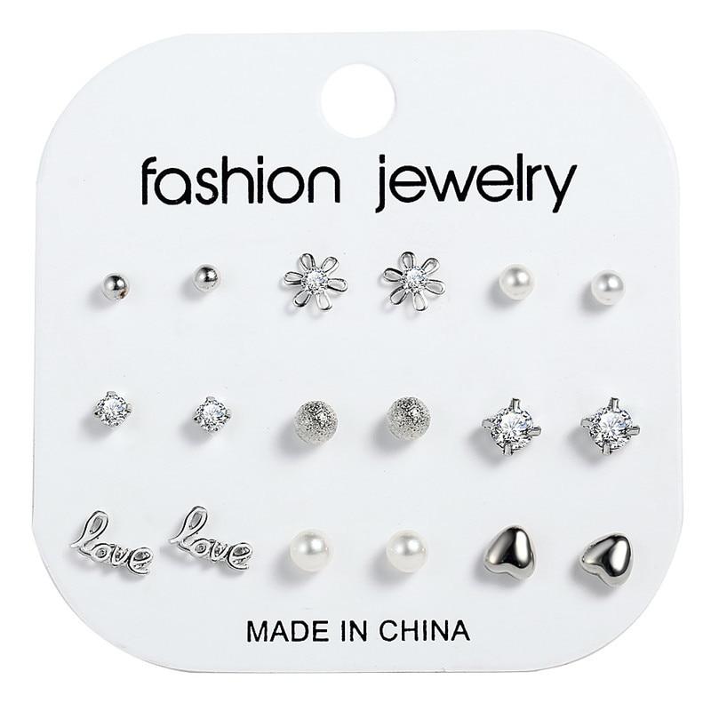 17 км акриловые серьги с кисточками для женщин, богемные серьги, набор больших геометрических висячих сережек Brincos, Женские Ювелирные изделия DIY - Окраска металла: Earrings Set 12