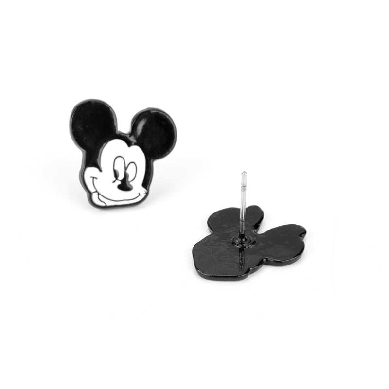 Mickey y Minnie 1 par de pendientes de Charactor de dibujos animados esmalte hipoalergénico eeeeeeeeeeeeeeeeeearrings para mujeres regalo de parejas