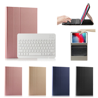 Keyboard Case For iPad Mini 4/Mini 5/Mini 2019 Tablet Case PU Leather Flip Stand Tablet Cover with Removable Blutooth Keyboard