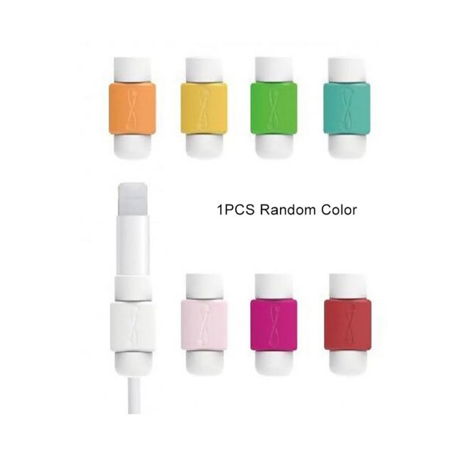 Data Cable Protection Cable Sleeve Charging Cable Protection Sleeve I Cable Sleeve Soft Silicone Cylindrical Easy to Fix