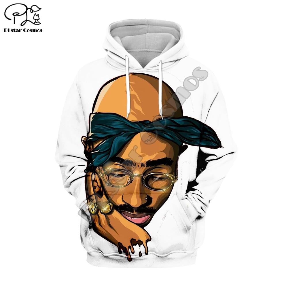 PLstar Cosmos Tupac 2Pac 90's Rapper Harajuku Tracksuit 3D Print Hoodie/Sweatshirt/Jacket/Men Women Hiphop Casual Style-3