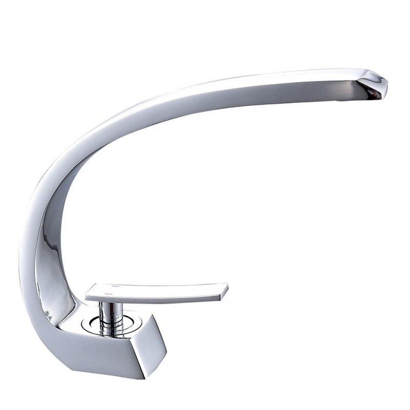Robinet de lavabo en laiton chromé robinet brosse Nickel évier mélangeur robinet vanité eau chaude froide robinets de salle de bain