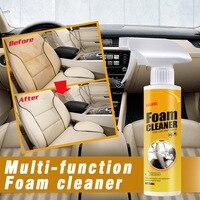 Agente de limpieza Interior de coche, limpiador de techo, tela tejida de franela de cuero, espuma de limpieza sin agua, herramienta de limpieza automática para salpicadero, 30ml