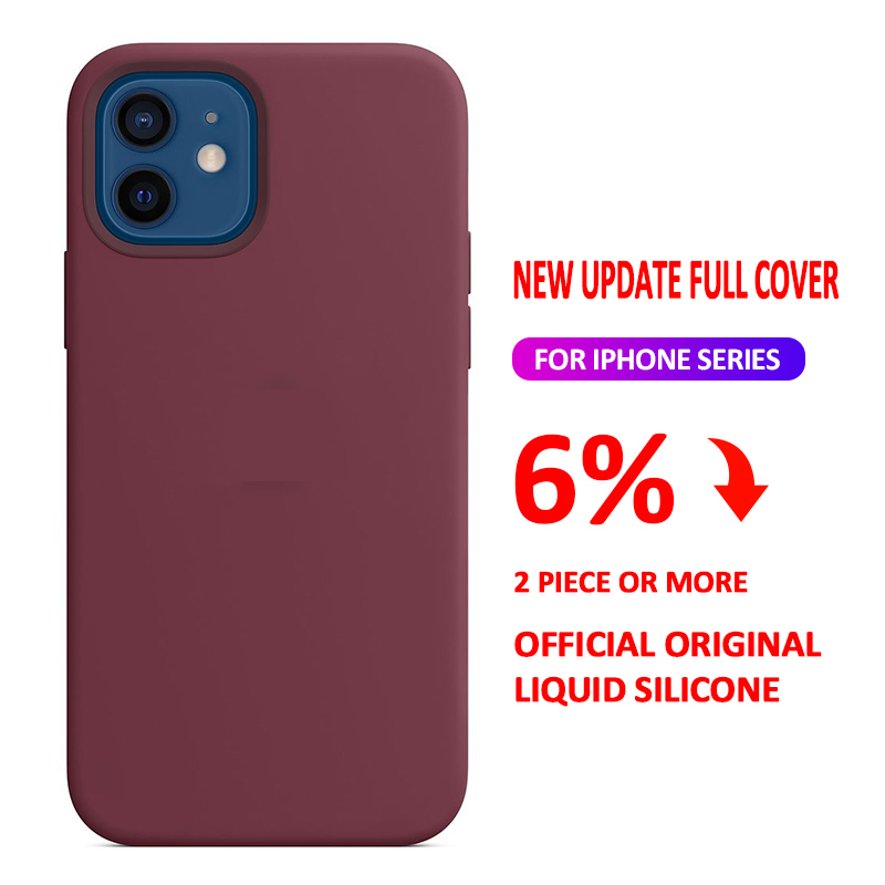 Official Original Liquid Case For iPhone 11 Pro 12 Mini X XR XS Max Case For iPhone 8 7 6 6s Plus SE 2020 12 Pro Case