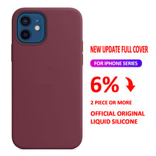 Official Original Liquid Case For iPhone 11 Pro 12 Mini X XR XS Max Case For iPhone 8 7 6 6s Plus SE 2020 12 Pro Case