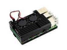 Waveshare Case In Lega di Alluminio per Raspberry Pi 4 Modello B Nero Armatura con Dual Ventole di RaffreddamentoScheda demo