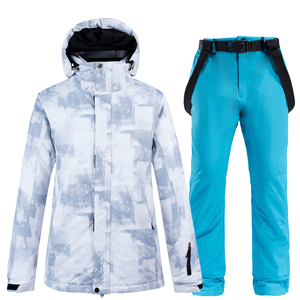 Image 3 - 10k Waterproof Skiing Suits Fashion Winter Set For Men Women Snowboard Clothes Suits Thicken Warm Ski Jacket Pants Plus Size 3XL