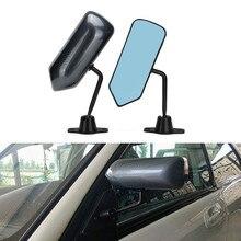 1 paar Universele Auto Achteruitkijkspiegel Koolstofvezel Autos Blauw Achteruitkijkspiegel Carbon racing Side Glas Groothoek Metalen beugel