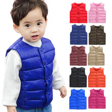 Autumn Vest kids Children's Girls Vest Hooded Jacket Waistcoats for Boy Baby winter outerwear Coats toddler girl clothes(China)