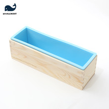 Soap Loaf Mold Tools Wooden-Box Soap-Making-Supplies Handmade Silicone-Material