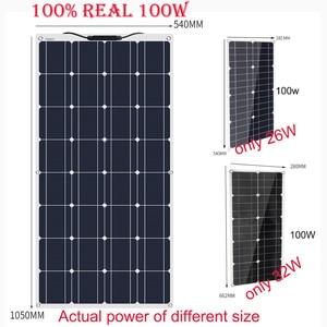 Image 2 - Przenośny elastyczny Panel słoneczny 16V 100 W 18v płyta monokrystaliczna wydajność PV 12V 100 watt chiny fotowoltaika jacht Rv