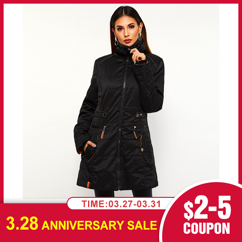 2020 Winter   Jacket   women Plus Size Womens Parkas Thicken Outerwear Solid Hooded Coats Long Female Slim Cotton Padded   Basic   Tops