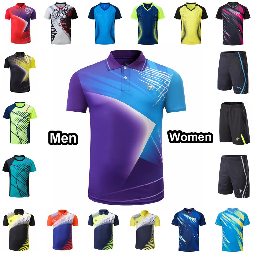 Men Women Tennis T Shirt , Girls Boys Tee Shirt Tennis Sportwear , Youth Badminton Kits Shorts , Table Tennis Training Uniform