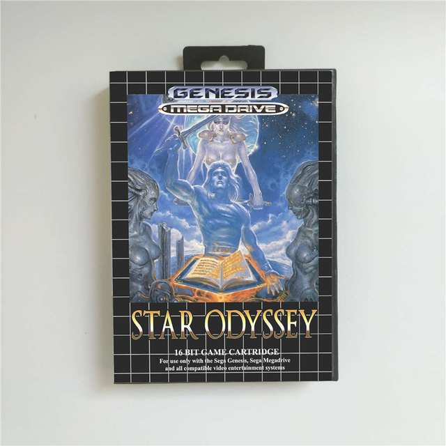 Star Odyssey Battery Save   EUR Cover With Box 16 Bit MD Game Card for Megadrive Genesis Video Game Console