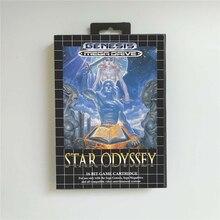 Ster Odyssey Batterij Save Eur Cover Met Doos 16 Bit Md Game Card Voor Megadrive Genesis Video Game Console