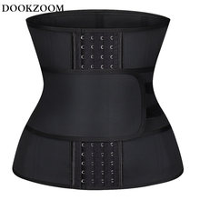 Women Latex Underbust Training Cincher Workout Waist Trainer Corset Tummy Control Girdle Workout Slim Belly Band for Weight Loss