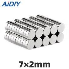 AI DIY 20/50/100 pcs 7mm X 2mm round strong  neodymium magnet N35 Mini small rare earth magnets Disc 7*2mm