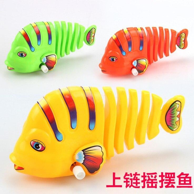 Shang Lian Yu Colorful Winding Sway Fish Spring Sway Cartoon Fish-Winding Toy Fish Stall Hot Selling