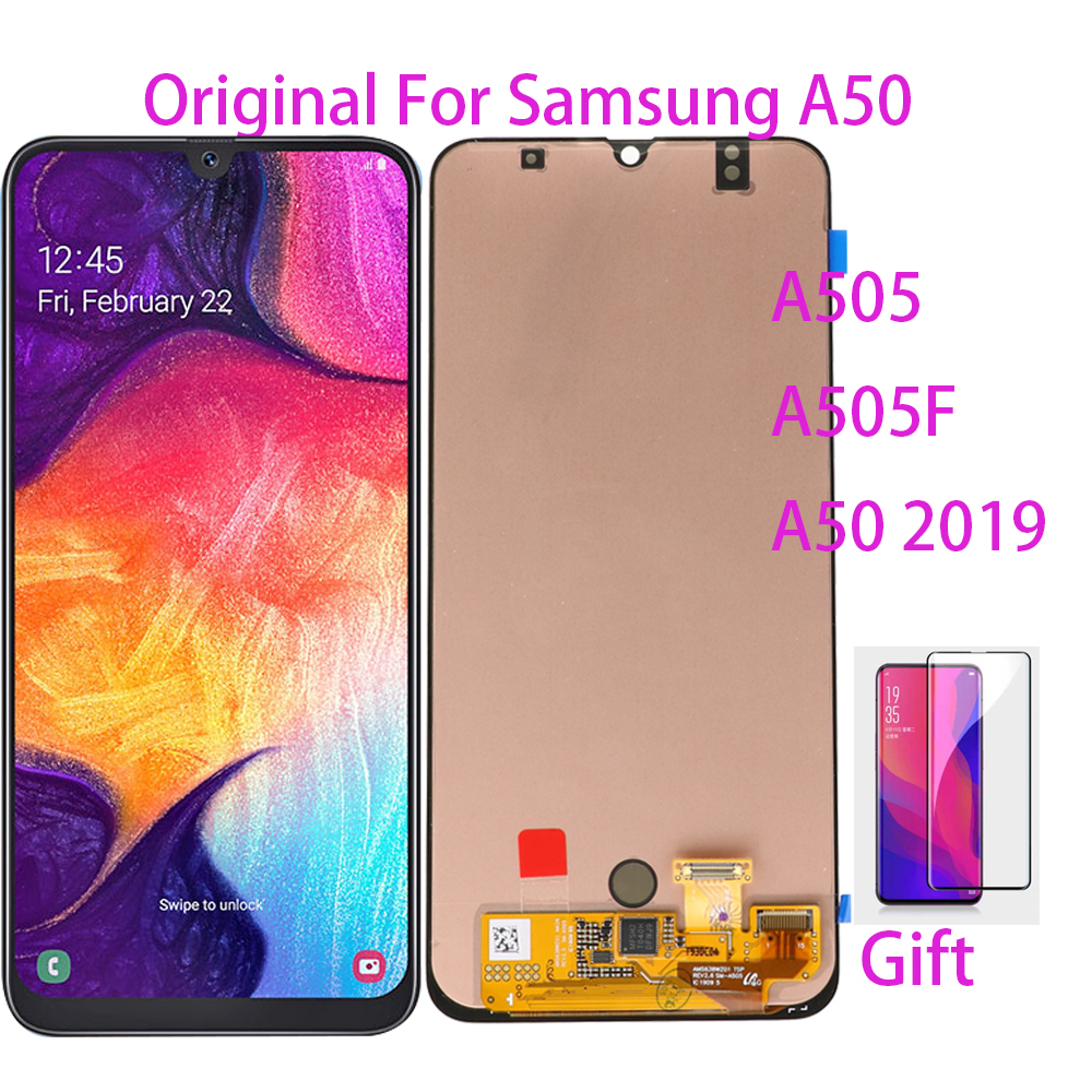 100% Original For Samsung Galaxy A50 SM-A505FN/DS A505F/DS A505 LCD Display Touch Screen Digitizer Assembly For Samsung A50 lcd image