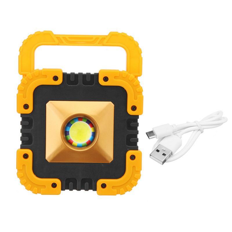 Портативный Точечный светильник 10 Вт USB Перезаряжаемый Солнечный светодиодный COB рабочий светильник для кемпинга аварийный светильник