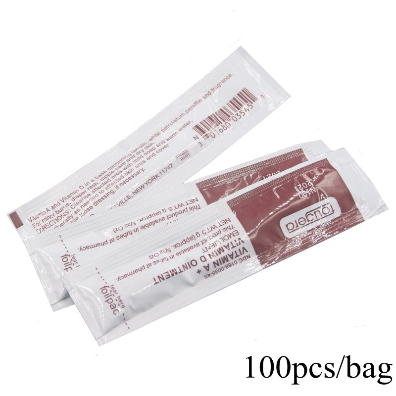 100Pcs/lot  Vitamin Ointment A&D Tattoo Aftercare Cream Care For Tattoo Microblading Eyebrow Permanent Makeup Tattoo Supplies