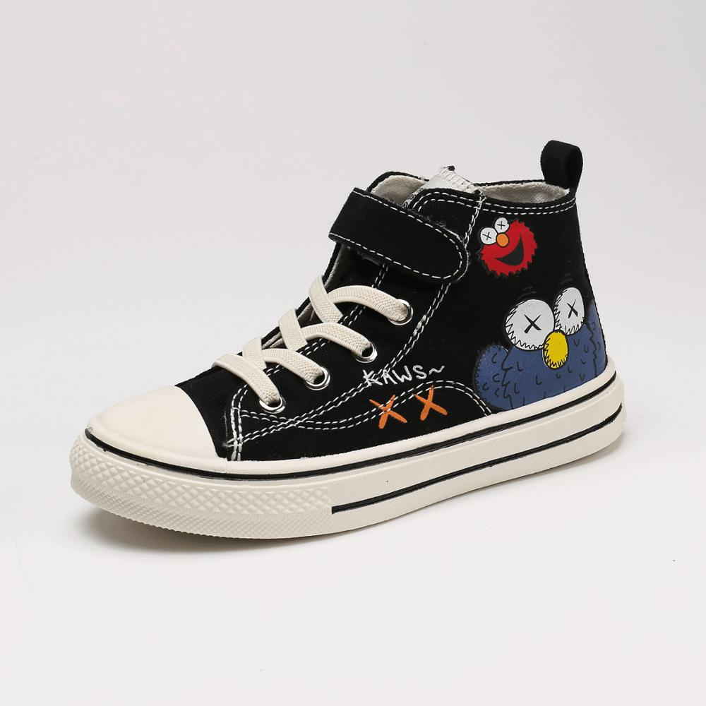 2020 Spring New Children's Shoes High-top Hand-painted Canvas Shoes Boys And Girls Sneakers Children's Sports Shoes