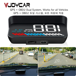 Image 1 - Car Universal Dual System HUD Head Up Display OBD II/GPS Interface Vehicle Speed MPH KM/h Engine RPM OverSpeed Warning Mileage