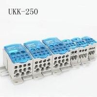 Ukk250a trilho din 250a 1 em muitos bloco terminal de saída para caixa de distribuição caixa de junção de energia universal conector de fio elétrico|Blocos de terminais| |  -