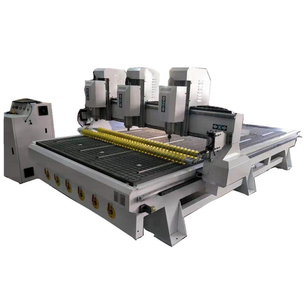 Heavy Duty 3 Spindle Woodworking Cnc Milling Machine 1530 Cabinet Wooden Pattern Engraving Machinery, 5x10 Feet Cnc Router