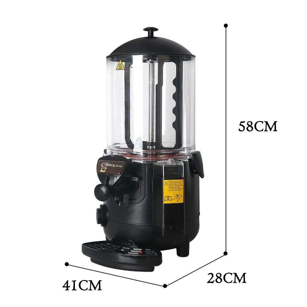 10L Hot Chocolate Dispenser Warming Machine Elektrische Mixer voor chocofairy Koffie Melk juicer Thee Roeren Hot Drankautomaat - 6