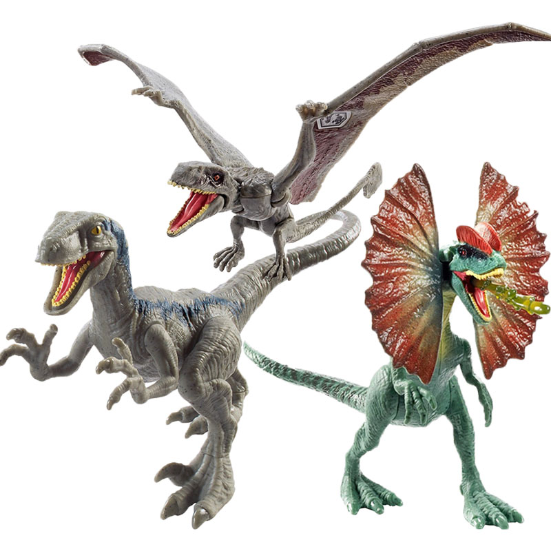 2019 12-17cm Jurassic World Toys Attack Pack Velociraptor Blue Dimorphodon Gallimimus Dragon PVC Action Figure Model Dolls