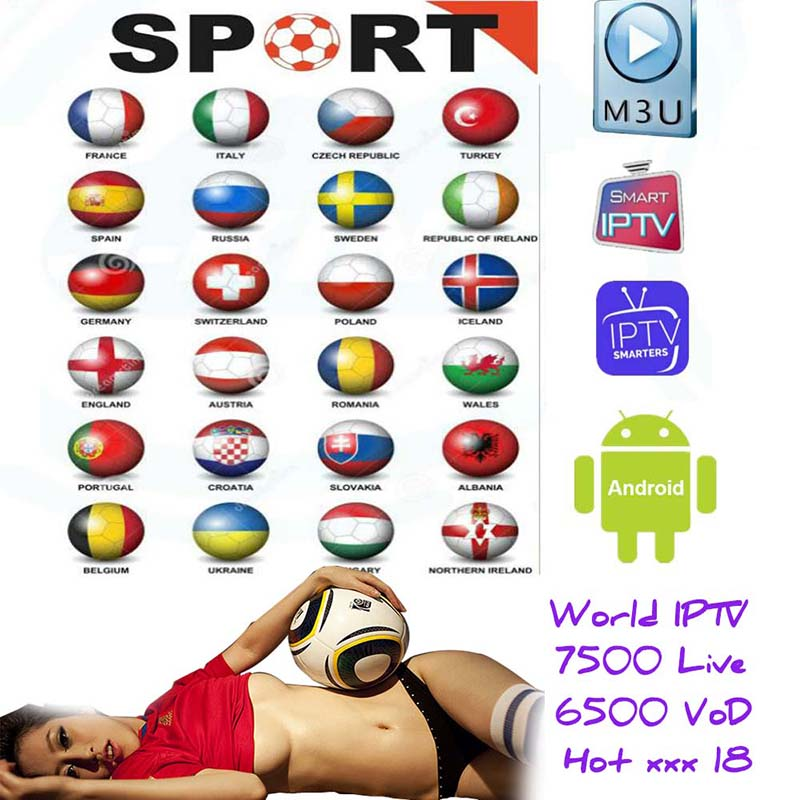 1 Year 8500+Live Europe IPTV French Dutch Spain Italy UK IPTV Subscription Arabic Iptv Android Free Sports Tv Box Ssmart Tv Pc